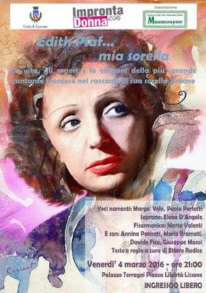 Locandina spettacolo su Edith Piaf