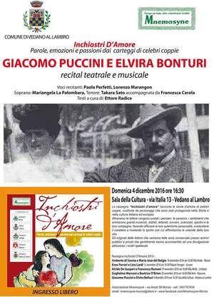 Locandina spettacolo Giacomo Puccini e Elvira Bonturi