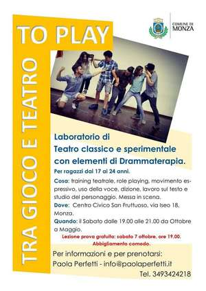 Locandina corso teatro