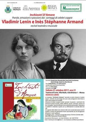 Locandina spettacolo Vladimir Lenin e Inés Stéphanne Armand