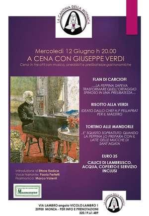 Locandina spettacolo A cena con Giuseppe Verdi