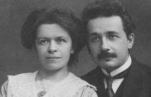 Foto Albert Einstein e Mileva Marić