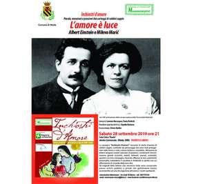 Locandina spettacolo Albert Einstein e Mileva Marić